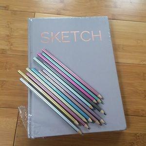 Other - Sketch book & color pencils